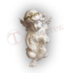 Форма силиконовая ангел с венков в виде сердца