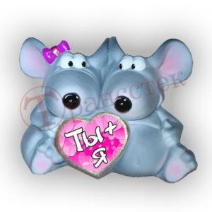 Форма силиконовая, влюблённые крысы