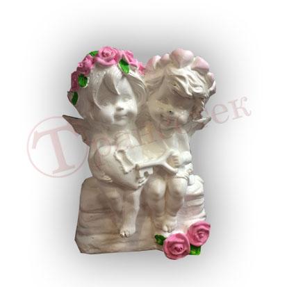 Форма силиконовая пара ангелов и ключ от сердца